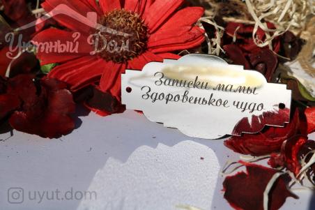 """Шильдик """"Записки мамы"""""""