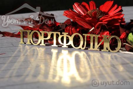 "Слово ""Портфолио"""