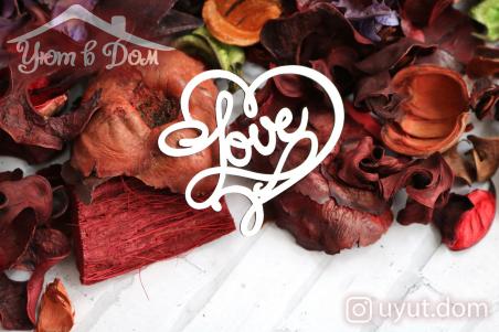 """Чипборд """"Love"""" №4"""