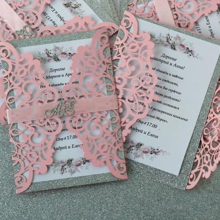 Ажурные приглашения на свадьбу